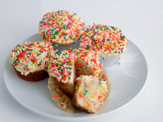 Easy Funfetti Birthday Cupcakes