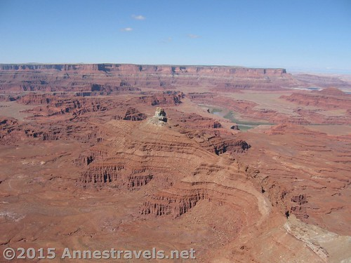Views toward Dead Horse Point State Park from Canyonlands Overlook in Canyon Rims Recreation Area, Utah