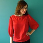 Red Mathilde Blouse