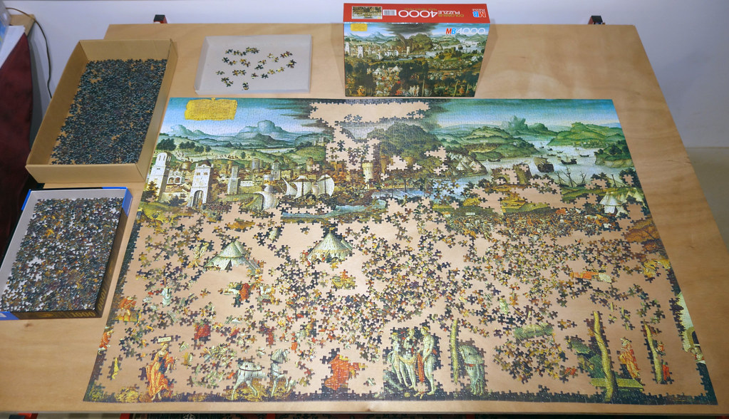 4000 piece puzzle 39 the judgement of paris and destruction of troy 39 by matthias gerung 1981. Black Bedroom Furniture Sets. Home Design Ideas