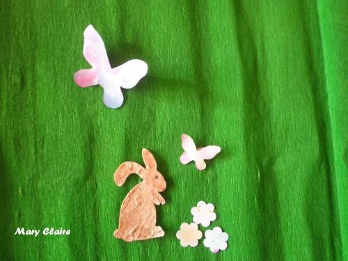 coniglietti farfalle e fiori