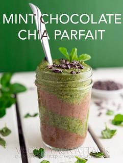 Mint Chocolate Chia Parfait