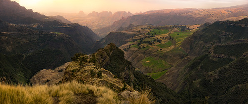 africa travel pink sunset panorama mountains green nature yellow zeiss 35mm landscape countryside nationalpark view natural outdoor sony horizon farming scenic canyon fromabove craggy vista fe ethiopia alpha cinematic epic a7 rolling eastafrica simienmountains semien jawdropping sonnartfe35mmf28za