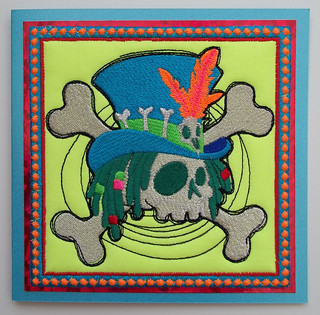 Voodoo fabric art card