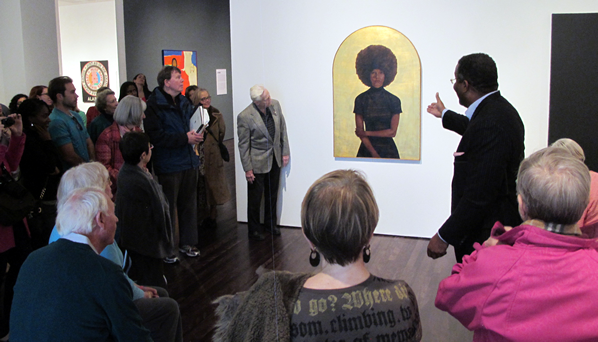 Dr. Vincent leads Blanton exhibit tour