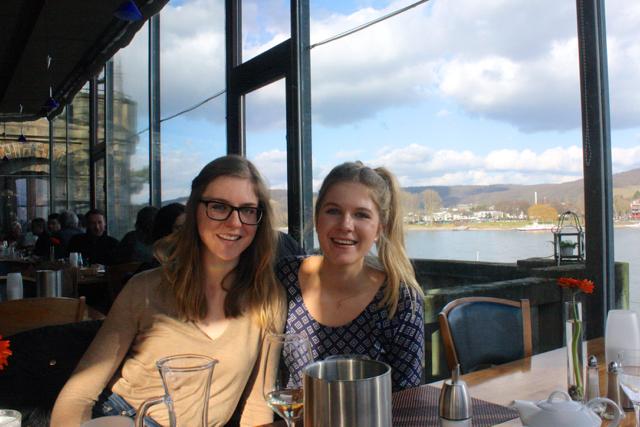 Sisterly bliss in Bastei, Bonn