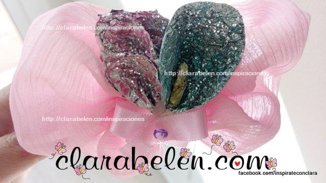 cojines pañuelo y flor papel albal
