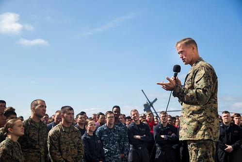 Commander Task Force 51 Visits Essex ARG/MEU