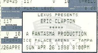 04/26/98 Eric Clapton @ Ice Palace Arena, Tampa, FL