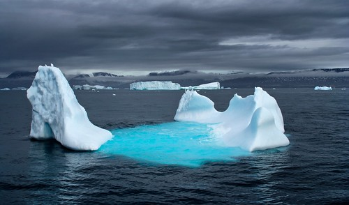 blue sea cloud seascape ice water greenland iceberg diskobay