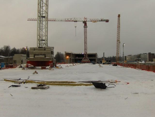 Hämeenlinnan moottoritiekate ja Goodman-kauppakeskus: Työmaatilanne 13.1.2013 - kuva 8