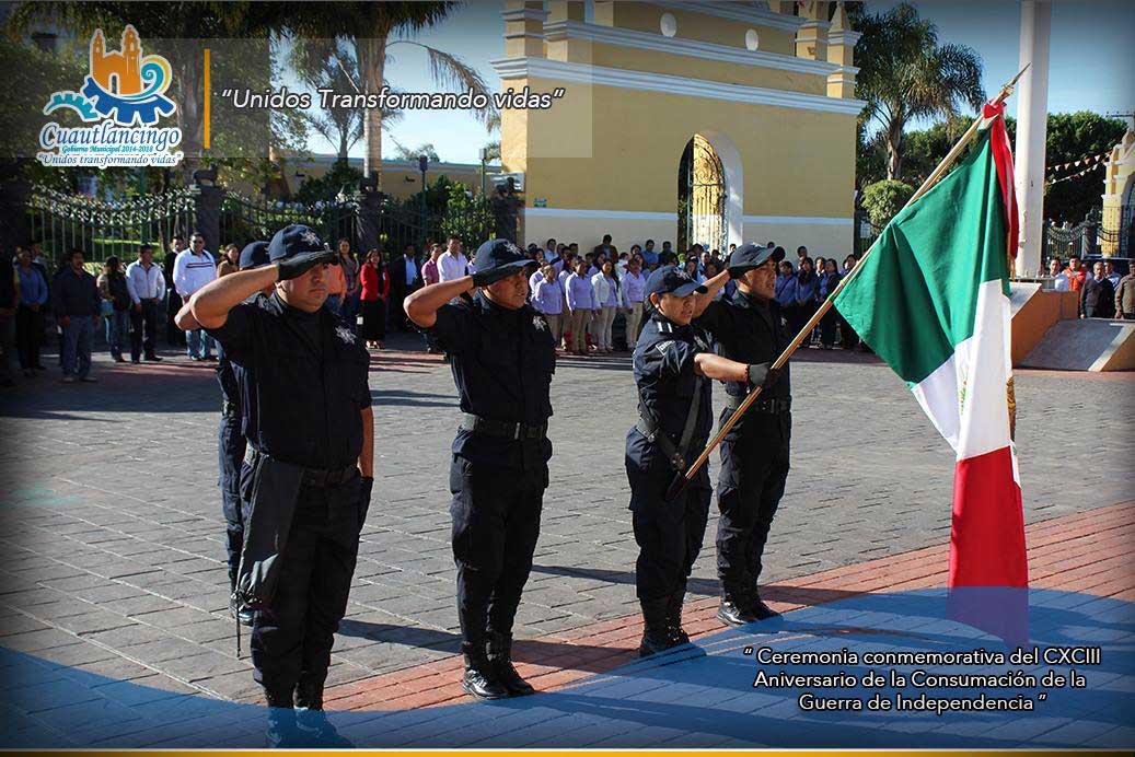 Ceremonia Conmemorativa del CXCIII Aniversario de la Consumación de la Guerra de Independencia