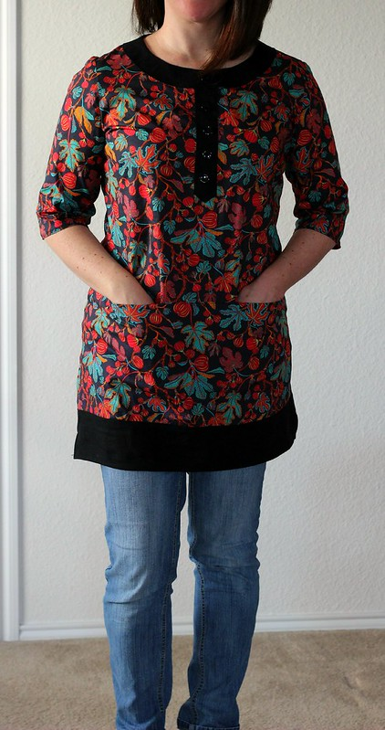 Simplicity 2211 Lisette Market Tunic in Liberty of London Alma