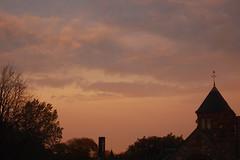 Sunset in Porter Square, Cambridge