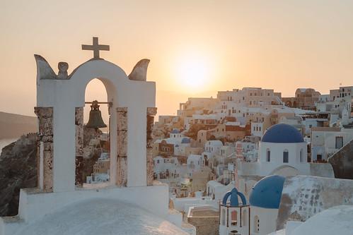 city travel sunset church sunrise landscape island photography sonnenuntergang urlaub santorini greece griechenland santorin oia thira reise egeo