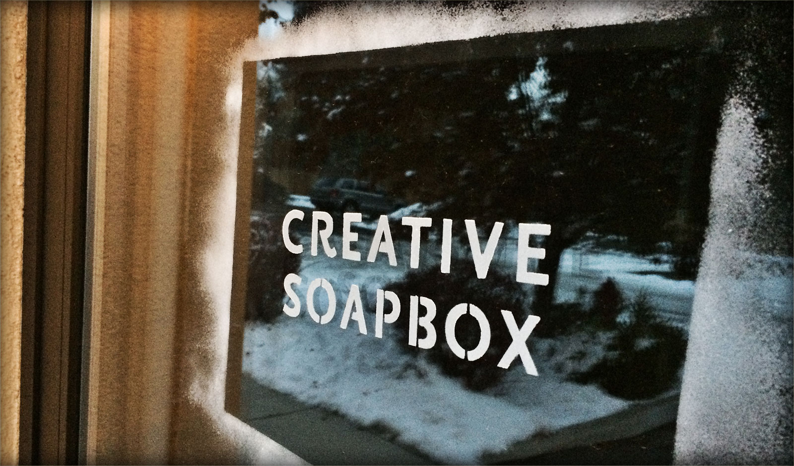 Creative Soapbox Door Sign