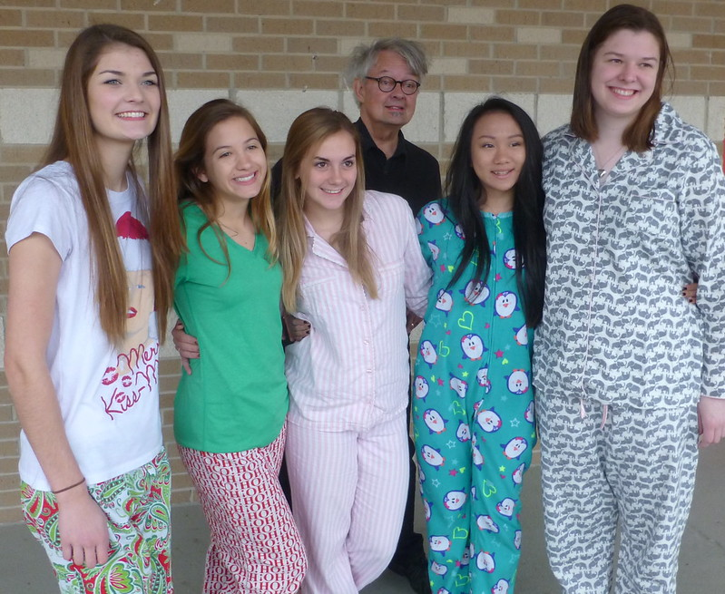 Caddo Magnet HS; pajama day 2014