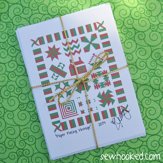 Paper Piecing Vintage Greeting Cards