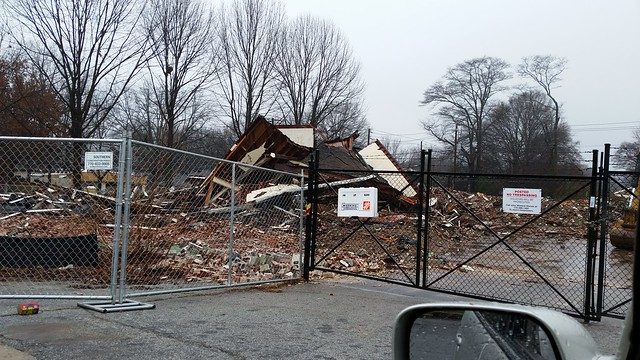 20150103_111706 2015-01-03 demolition 345 Glen Iris Creomulsion Building Atlanta GA Old 4th War