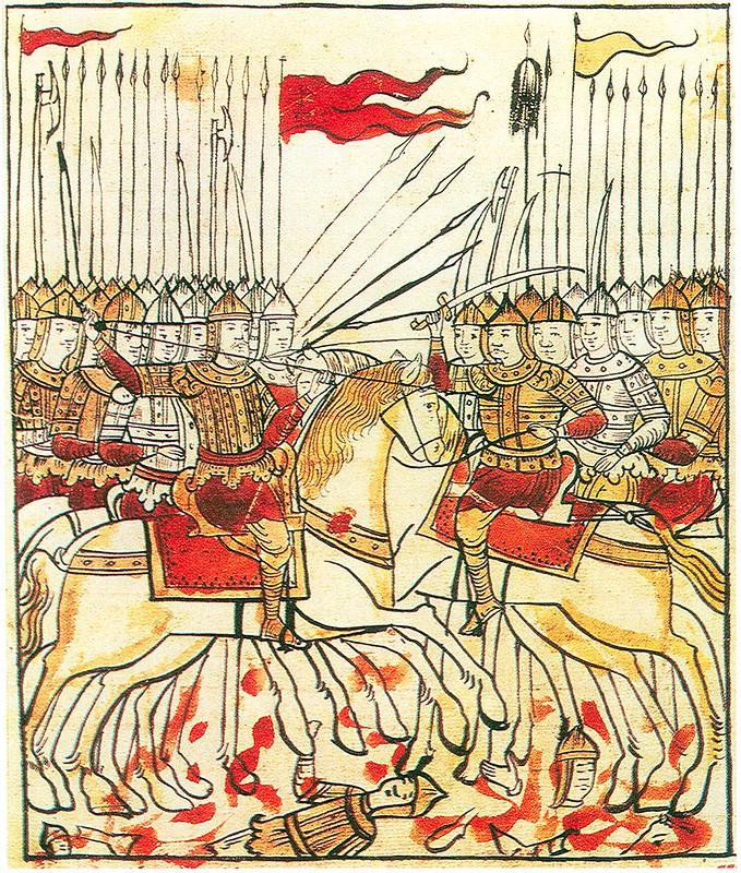 A 17th century miniature of Battle of Kulikovo