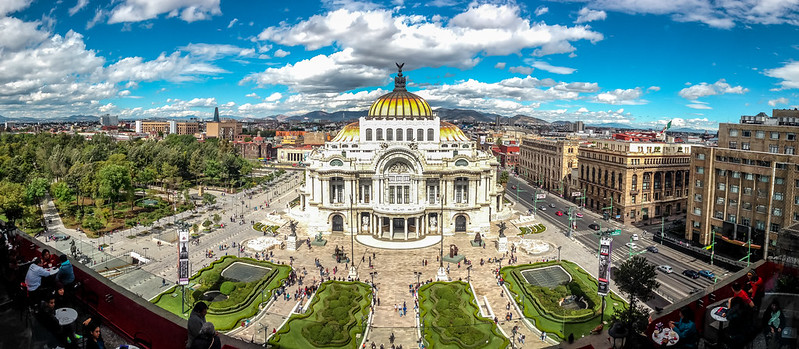 Palacio de Bellas Artes Panorama on December 25th (Mexico City. #Photograph by Gustavo Thomas © 2014)