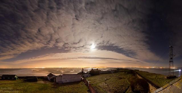 Hilbre Island // Moonlit Panorama
