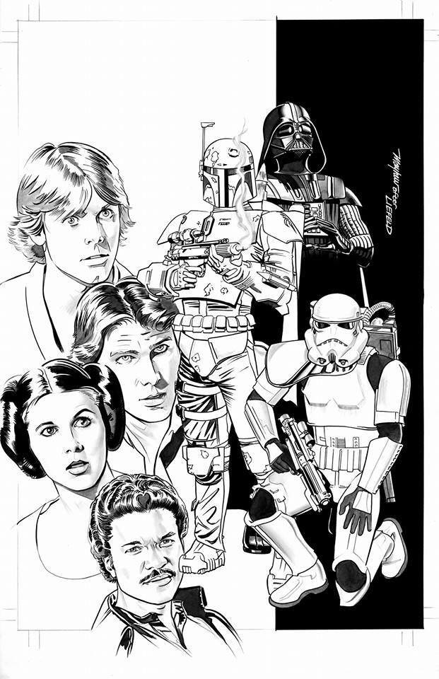 Mike mayhew zapp comics cover regular and black white