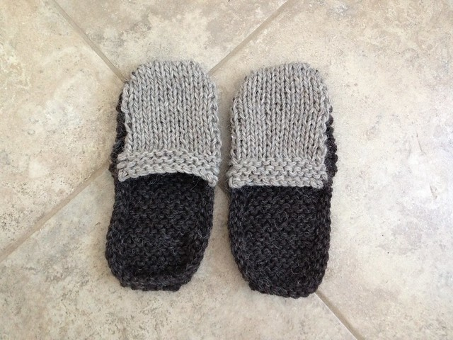 Pre-felted slippers