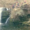 Video of #stag party group #canyoning in #South #Wales, #Britain