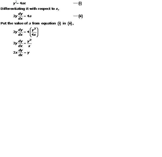RD Sharma Class 12 Solutions Chapter 22 Differential Equations Ex 22.2 Q3-i