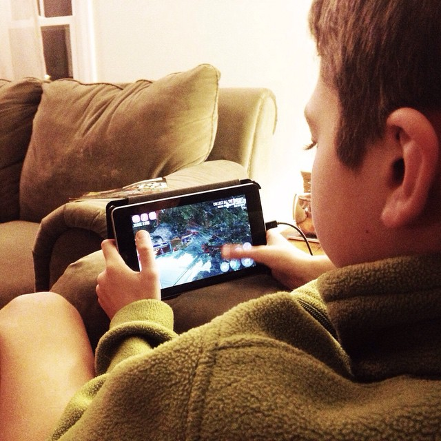 Ethan playing some crazy goat simulator game! #myethan