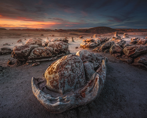 The cracked eggs rock formation in the Bisti Wilderness Area (photo from Hidden Gems of the Western United States by Daniel Gillaspia)