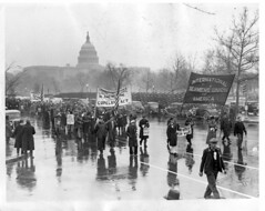 Seamen March in Rain in D.C. Protest #2: 1937