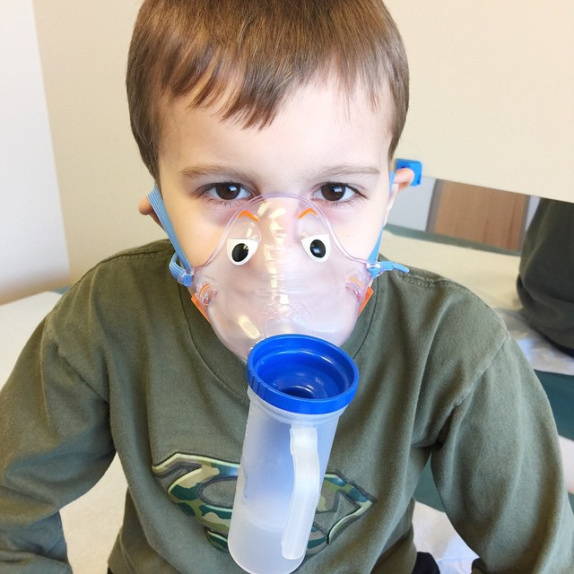Oh, it has definitely been a thumbs down week. First the stomach bug with Autumn, now cold induced asthma for Nathan. I need a week of sleep.