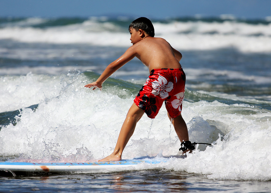 Kids surfing daet bagasbas beach camarines norte