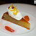 Flourless blood orange and almond cake, Jersey creme fraiche, rosewater and cardamom