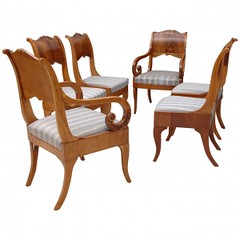 Set of Six Baltic Dining Chairs, circa 1820