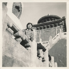 Chinese woman posing at a temple