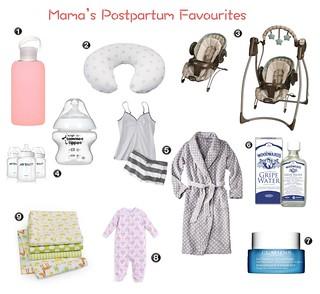 postpartum faves