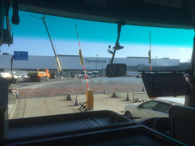ターミナル3手前の検問所