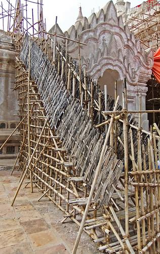 Scaffolding at Ananda Temple in Bagan, Myanmar