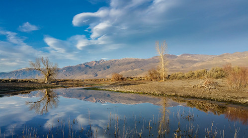 california winter sunset lake water clouds landscape pond unitedstates bishop easternsierra farmerspond landscapephotogarphy