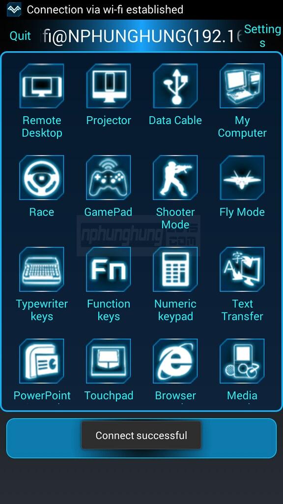 Kết nối điện thoại tới máy tính