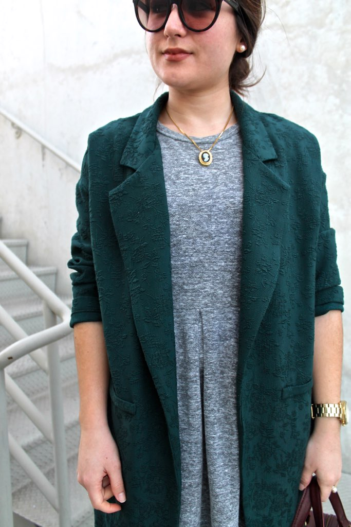 oversized jacket + Madewell dress