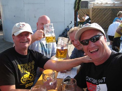 friends from Norway at Octoberfest in Germany
