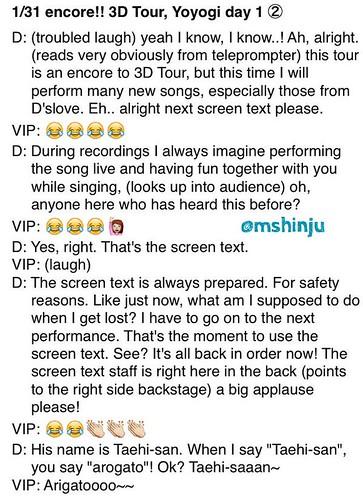 Fan Account Daesung Encore Dates Toyko 31 Jan 2015 2