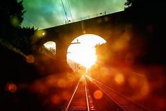 sunrise on railway lines