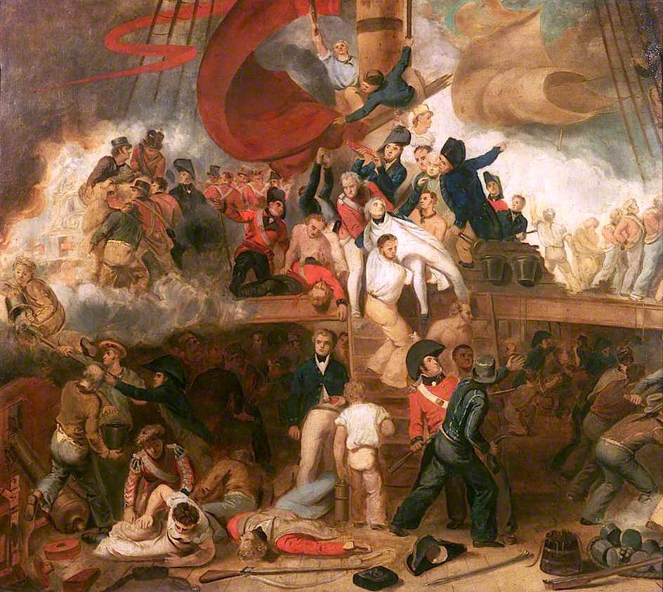 The Death of Nelson at the Battle of Trafalgar, 21 October 1805 by Samuel Drummond, 1806