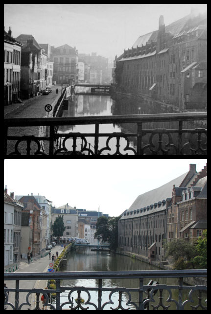 St Michael's Bridge and the River Leie, Ghent