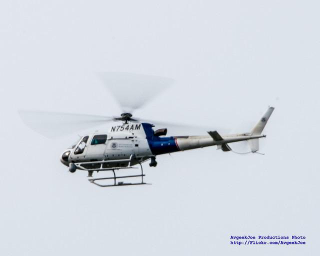 Eurocopter AS350 B3 Ecureuil on Patrol Over Skagit